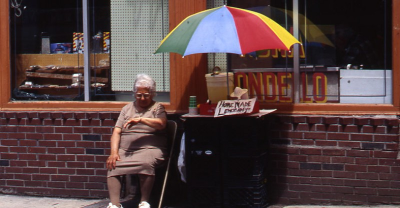 example of small business_an old woman selling lemonade